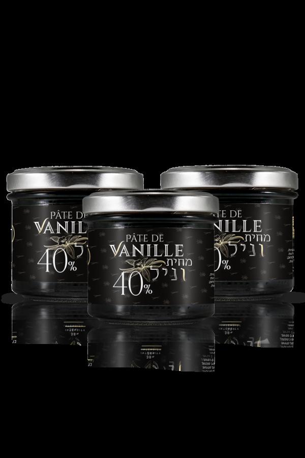3 צנצנות-מחית-וניל-פלאניפוליה 120 גרם בריכוז 40%